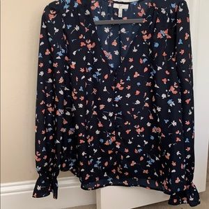 Large Joie Navy floral top
